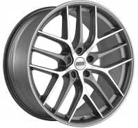 Литые диски BBS CC0404 R20 5х112 ET42 DIA82,0 Graphite Diamond Cut